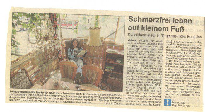 Schmerzfrei leben auf kleinem Fuss_TLZ_Weimar_09072009